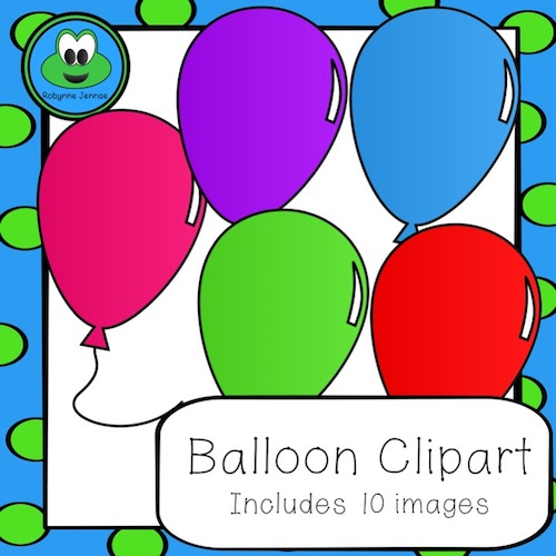 Balloon clip art title page port