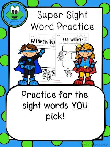 Sight word practice port